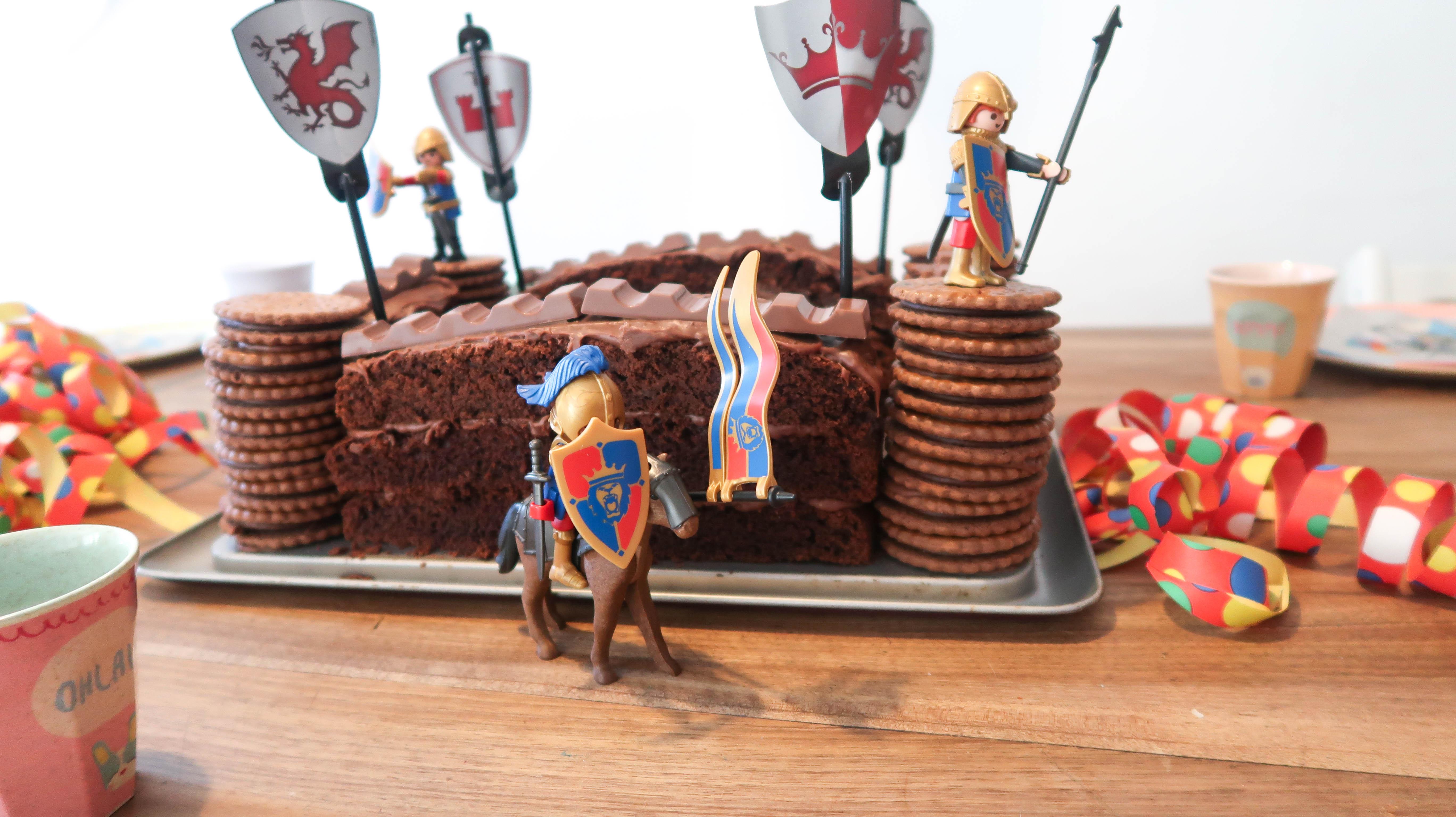 Schokoladen- Ritterburg // Geburtstagskuchen für echte Ritter