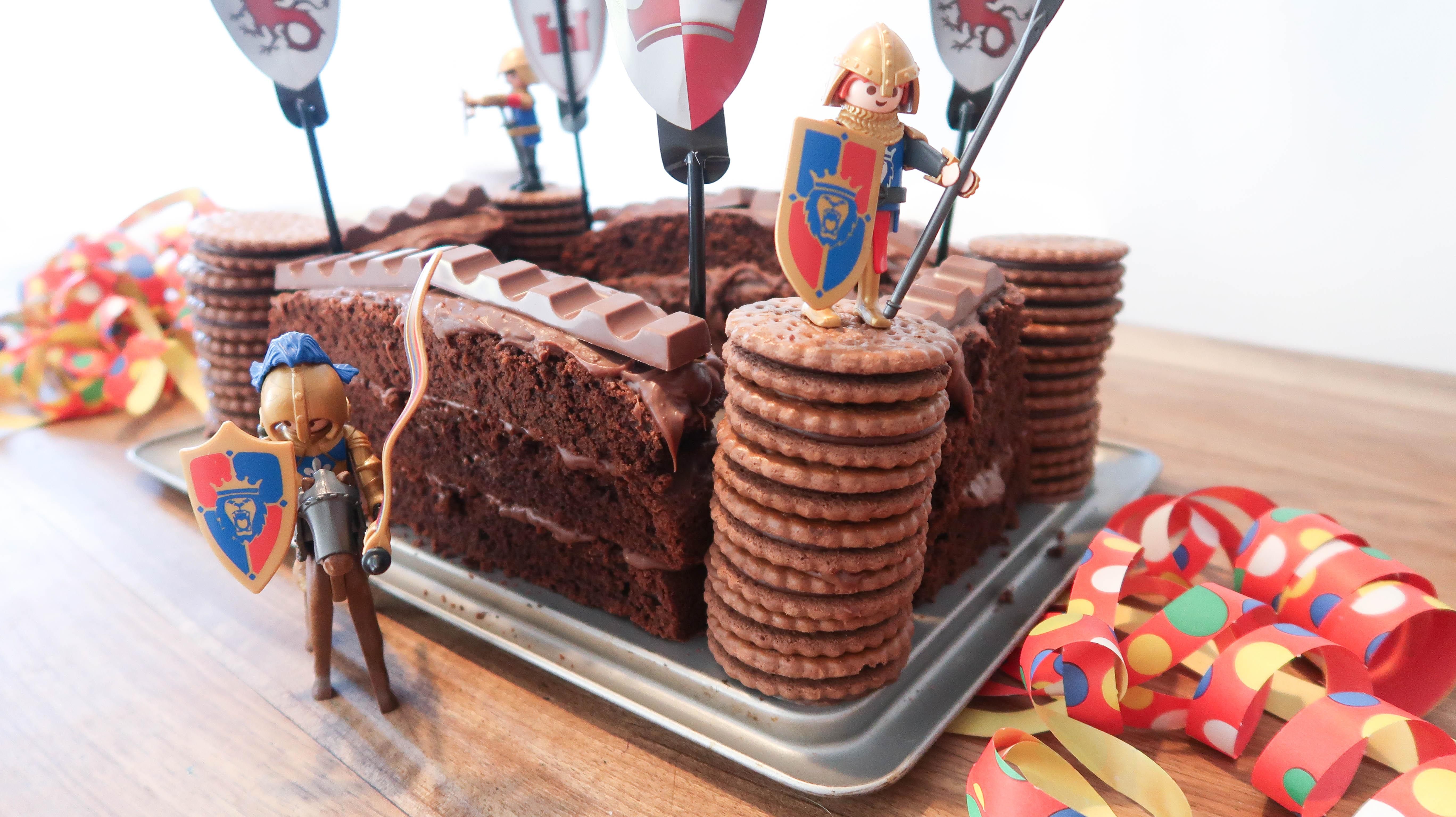 Schokoladen Ritterburg Geburtstagskuchen Fur Echte Ritter